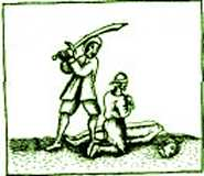 Executed with sword